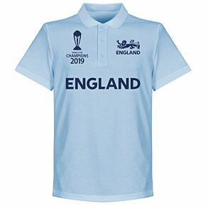 England Cricket World Cup Winners Polo Shirt - Sky