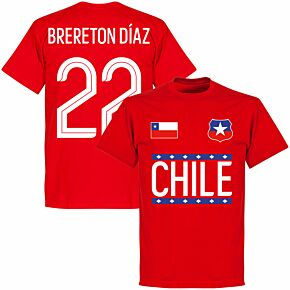 Chile Brereton Diaz 22 T-shirt - Red