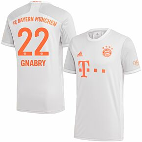 20-21 Bayern Munich Away Shirt + Gnabry 22 (Official Printing)