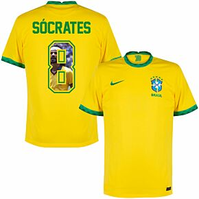 20-21 Brazil Home Shirt + Socrates 8 (Gallery Style)