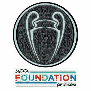 21-22 UCL Starball Titleholder + UEFA Foundation Patch Set