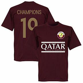 Qatar 2019 Asian Cup Winners Tee - Maroon
