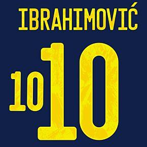 Ibrahimović 10 (Official Printing) - 21-22 Sweden Away