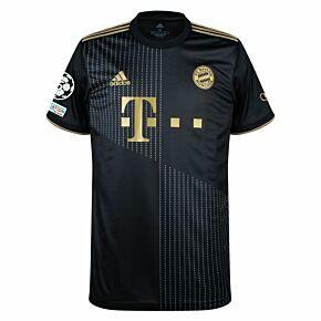 21-22 FC Bayern Munich Away Shirt + UCL Starball 5 Times Winner + UEFA Foundation Patches