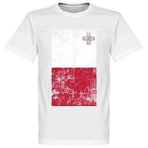 Malta Flag Tee - White