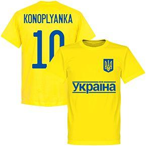Ukraine Konoplianka 10 2020 Team T-Shirt - Yellow