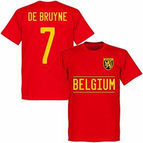 Belgium De Bruyne 7 Team T-shirt - Red