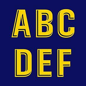 18-21 Barcelona Home Official La Liga Adult Letters (55mm)