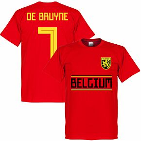 Belgium De Brunye 7 Team Tee - Red