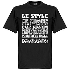 Le Style De Zidane Tee - Black