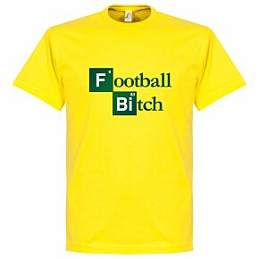 Football Bitch Tee - Yellow