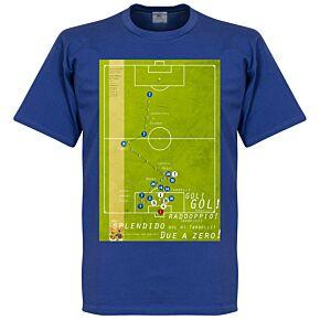 Pennarello Marco Tardelli 1982 Classic Goal Tee - Royal