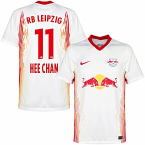 20-21 RB Leipzig Home Shirt + Hee-chan Hwang 11 (Official Printing)