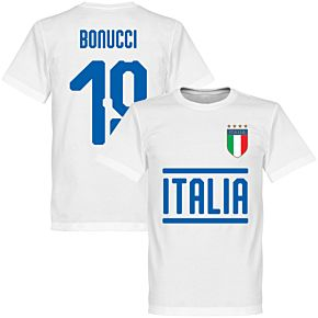 Italy Bonucci 19 Team Tee - White