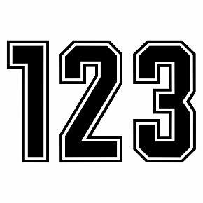 Keyline Style Black Flock Numbers