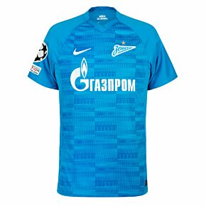 21-22 Zenit St Petersburg Home Shirt + UCL Starball + UEFA Foundation Patch Set