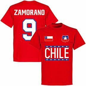 Chile Zamorano 9 Team T-shirt - Red