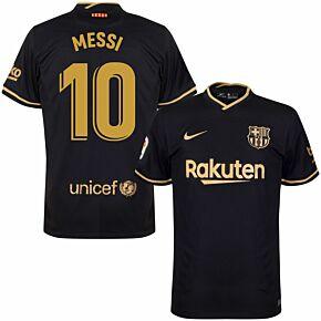 20-21 Barcelona Away Shirt - Kids + Messi 10 (Official Printing)