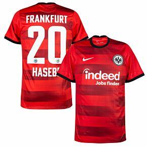 21-22 Eintracht Frankfurt Away Shirt + Hasebe 20 (Official Printing)
