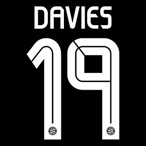 Davies 19 (Official Printing) - 20-21 Bayern Munich 3rd C/L - KIDS
