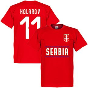 Serbia Kolarov 11 Team Tee - Red