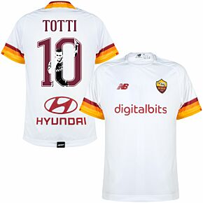 21-22 AS Roma Away Shirt + Totti 10 (Gallery Style)