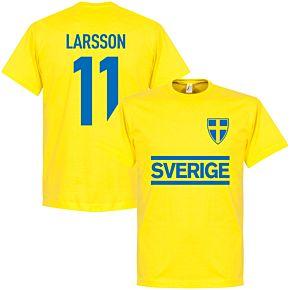 Sweden Larsson Team Tee - Yellow