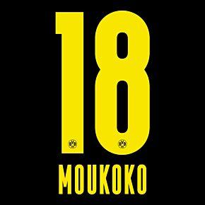 Moukoko 18 (Official Printing) - 20-21 Borussia Dortmund Away