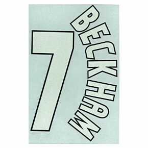 Beckham 7 - 98-99 Home C/L Style - 1 Star Flock Name and Number Transfer