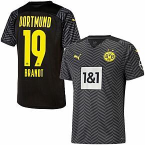 21-22 Borussia Dortmund Away Shirt + Brandt 19 (Official Printing)