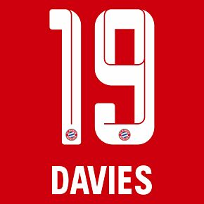 Davies 19 (Official Printing) - 21-22 Bayern Munich Home