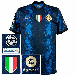 21-22 Inter Milan Dri-Fit ADV Match Home Shirt (No Sponsor) + UCL/Foundation + Scudetto + Digitalbits
