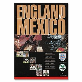 England vs Mexico 1997 International Friendly at Wembley Program - March 29, 1997