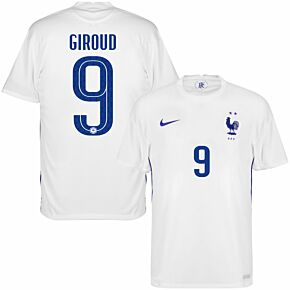 20-21 France Away Shirt + Giroud 9 (Official Printing)