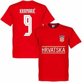 Croatia Kramaric 9 Team T-shirt - Red