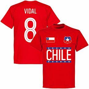 Chile Vidal 8 Team KIDS T-shirt - Red