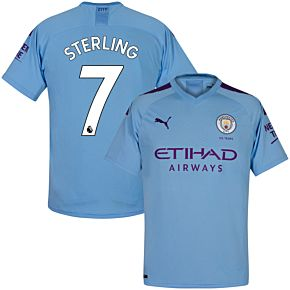 Puma Man City Home Sterling 7 Jersey 2019-2020 (Official Premier League Printing)
