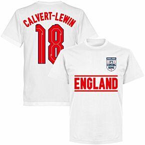 England Calvert-Lewin 18 Team KIDS T-shirt - White