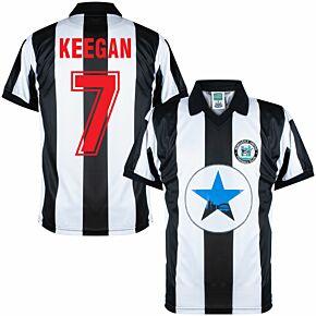 1982 Newcastle Utd Home Retro Shirt + Keegan 7 (Retro Flock Printing)