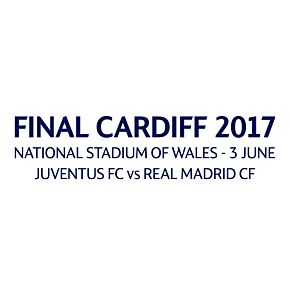 Champions League Final 2016 / 2017 Match Day Transfer (Navy - Real Madrid Home)