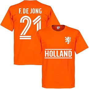 Holland F. De Jong Team T-Shirt - Orange
