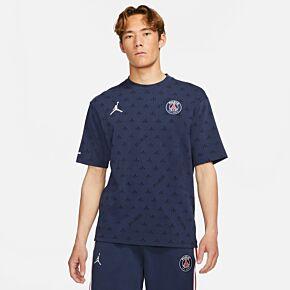 21-22 PSG x Jordan Statement T-Shirt - Navy