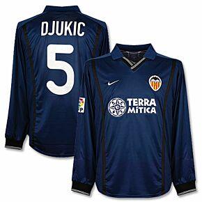 00-01 Valencia Away L/S Players Jersey + Djukic No. 5