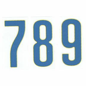 Italy Away 2014 / 2015 Official Individual Front Numbers - 105mm
