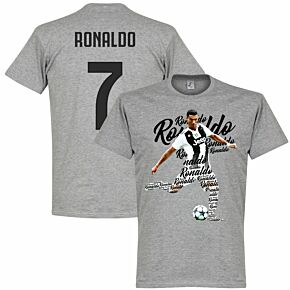 Ronaldo 7 Script Tee - Grey