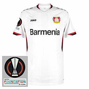 21-22 Bayer Leverkusen Away Shirt + Europa League Patches