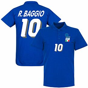 Italy 1994 Italy Double Crested Polo Shirt - Royal