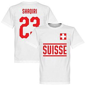 Switzerland Shaqiri 23 Team Tee - White