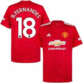 20-21 Man Utd Home Shirt + B. Fernandes 18 (Premier League)