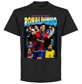 Ronaldinho Old Skool Hero T-Shirt - Black